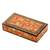 Papier mache decorative box, 'Floral Intricacy' - Floral Motif Papier Mache Decorative Box from India (image 2a) thumbail