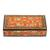 Papier mache decorative box, 'Floral Intricacy' - Floral Motif Papier Mache Decorative Box from India (image 2b) thumbail
