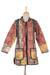 Patchwork cotton jacket, 'Floral Fusion' - Cotton Patchwork Jacket with Kantha Stitching (image 2a) thumbail