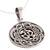 Sterling silver pendant necklace, 'Om Pattern' - Celtic Om Sterling Silver Pendant Necklace from India (image 2c) thumbail