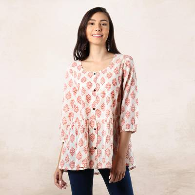 Cotton blouse, Sweet Honeysuckle