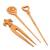 Mango wood hair pins, 'Natural Trio Delight' (set of 3) - Natural Mango Wood Assorted Hair Pins from India (Set of 3) (image 2a) thumbail
