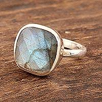 Labradorite cocktail ring, 'Razzle Dazzle' - Sterling Silver and Labradorite Cocktail Ring