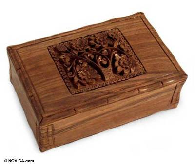Floral Wood Jewelry Box