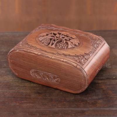 Wood jewelry box, Kashmiri Delight