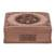 Walnut jewelry box, 'Hypnotic Tree' - Floral Carved Wood Jewelry Box (image 2a) thumbail