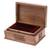 Walnut jewelry box, 'Hypnotic Tree' - Floral Carved Wood Jewelry Box (image 2d) thumbail
