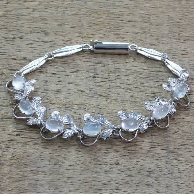 Moonstone tennis bracelet, Misty Affair