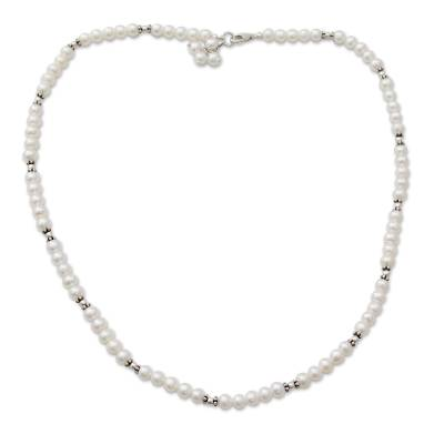 Handcrafted Bridal Jewelry Pearl Strand Necklace