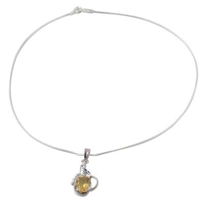 Sterling Silver and Topaz Necklace Modern Jewelry
