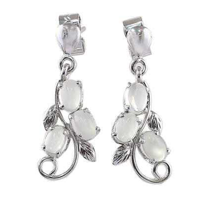 Sterling Silver Earrings Moonstone Earrings Artisan Jewelry