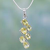 Topaz pendant necklace, 'Sky Fire' - Sterling Silver and Topaz Pendant Necklace