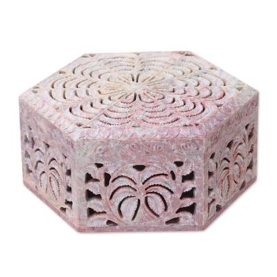 Hand Carved Soapstone Jewelry Box