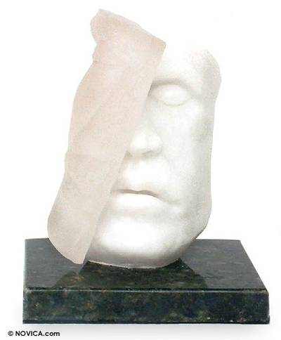 Marble resin sculpture