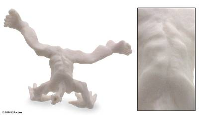 Marble sculpture, 'Art of Capoeira I' - Marble sculpture