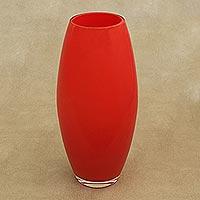Murano style art glass vase,