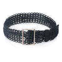 Soda pop-top belt, 'Midnight Chain Mail' (wide) - Soda pop-top belt (Wide)
