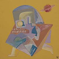 'The Astronaut' - Cubist Painting from Brazil