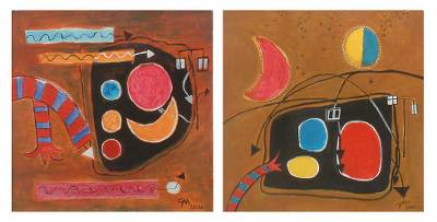 'Long Live Music!' (diptych) - Brazilian Modern Painting