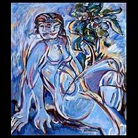 'Women and Duality' - Artistic Nude Expressionist Painting