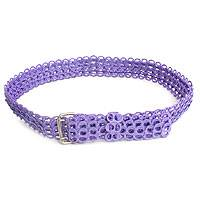 Soda pop-top belt, 'Lilac Chain Mail' - Fair Trade Recycled Aluminum Belt