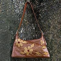 Leather Shoulder Bag, 'all Day Charm' Picture