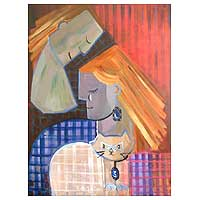 'Cubist Tenderness' - Cubist Painting
