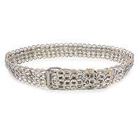 Soda pop-top belt, 'Beige Chain Mail' - Soda pop-top belt