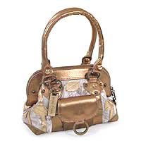 Handbag, 'golden Leaves' Picture