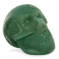 Green quartz statuette Green Skull Brazil