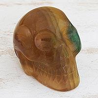 Fluorite statuette Misty Green Skull Brazil