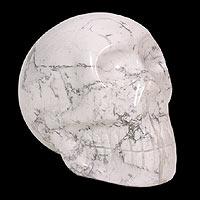 Howlite statuette Mystic Skull Brazil