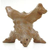 Terracotta sculpture, 'Capoeira Headstand' - Terracotta sculpture
