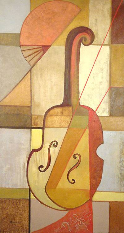 'The Search for Music' - Cubist Painting