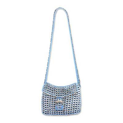Handcrafted Recycled Aluminum Flap Handbag