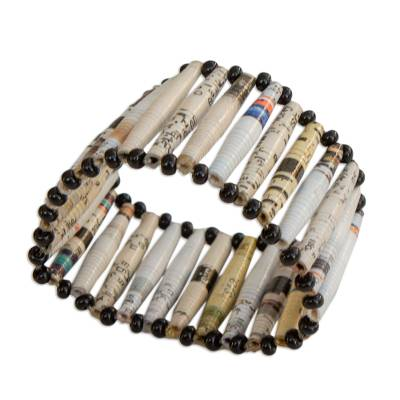 Recycled Paper Wristband Bracelet