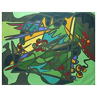 'Amazonian' (2007) - Original Abstract Painting from Brazil