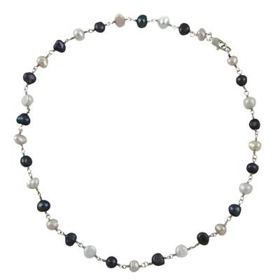 Sterling Silver Pearl Strand Necklace from Brazil