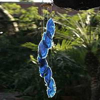Mobile, 'Ocean Mysteries' - Handcrafted Good Fortune Stone Windchime