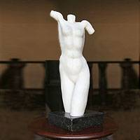 Marble resin sculpture Nude Brazil