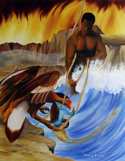 Elements Of Fine Arts : Brazilian fine art original oil painting the four