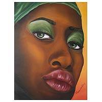 'Vain' - Bahia Woman Original Oil Painting