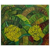 'Brazilian Banana Plantation' - Acrylic Painting