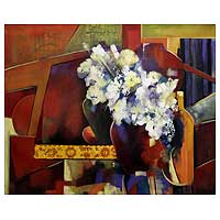 'Mirror IV' (2007) - Still Life Cubist Painting