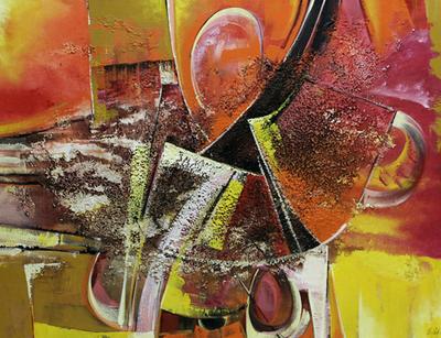 Mixed Media Original Abstract Painting