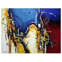 'Musical Notes III' (2007) - Brazilian Fine Art Abstract Painting