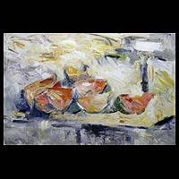 'Delightful Fruit' - Still Life Impressionist Painting from Brazil