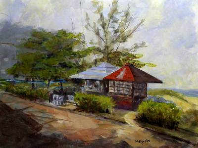 'Barra da Tijuca Neighborhood' (2008) - Landscape Impressionist Painting