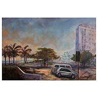 'Breakwater Surroundings' (2008) - Breakwater Beach Original Painting