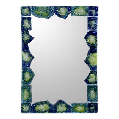 Art glass mirror